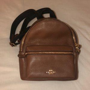 Coach leather mini backpack